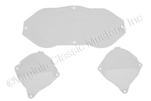 69-70 INSTRUMENT PANEL LENS SET-3 PIECES USE ON CAR WITHOUT FACTORY TACH