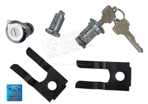 65-66 2 DOORS AND IGNITION LOCK SET