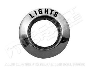 65-66 HEADLIGHT SWITCH BEZEL