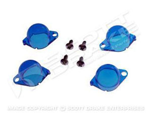 65-66 INSTRUMENT LIGHT COVER SET-BLUE