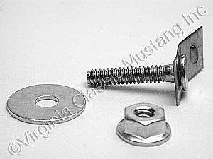 65-68 REAR VALANCE MOUNTING END BOLTS AND NUTS (2 OF EACH)