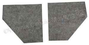 65-68 COUPE/FASTBACK KICK PANEL INSULATION- PAIR (GLUES TO BACK OF KICK PANELS)