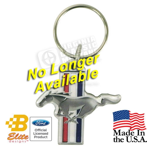 FORD MUSTANG RUNNING HORSE TRI-BAR ACRYLIC KEY CHAIN