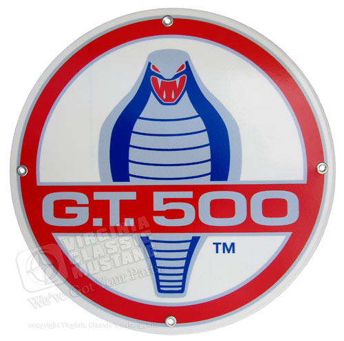GT500 ROUND DISK METAL SIGN - 12""