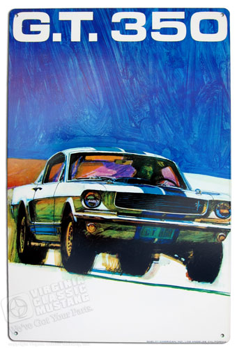 GT350 PAINTING METAL SIGN - 11 X 17""