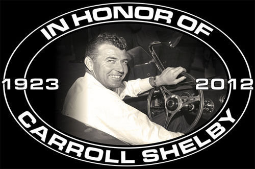 CARROLL SHELBY MEMORIAL METAL SIGN - 11 X 17