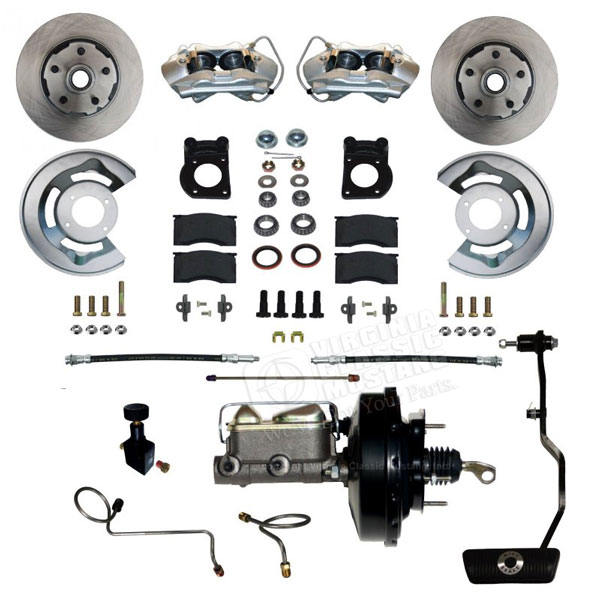 67-69 FRONT POWER DISC BRAKE CONVERSION KIT WITH AUTOMATIC TRANSMISSION