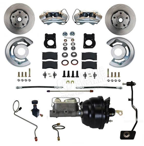 67-69 FRONT POWER DISC BRAKE CONVERSION KIT WITH MANUAL TRANSMISSION
