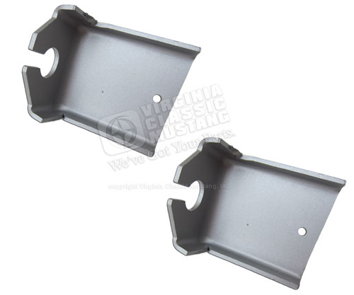 65-66 MUSTANG REAR PARKING BRAKE CABLE BRACKETS - PAIR