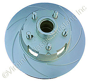 65-67 RH FRONT DISC BRAKE ROTOR-1 PIECE DESIGN SLOTTED AND PLATED