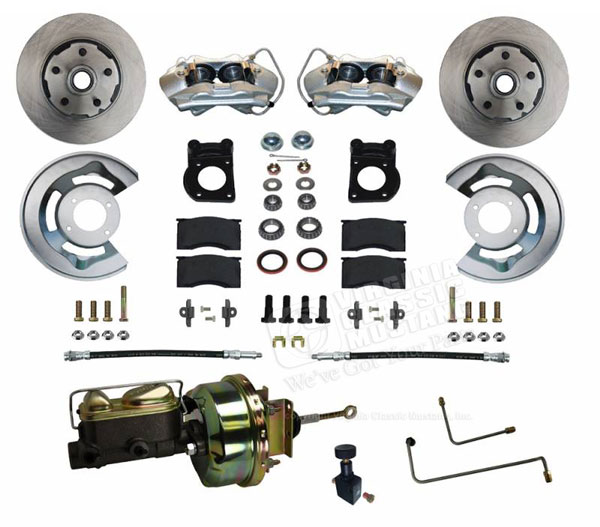 65-66 FRONT DRUM TO DISC CONVERSION KIT V-8 POWER BOOSTER WITH DUAL RESERVOIR MASTER CYLINDER  **AUTOMATIC TRANSMISSION ONLY**