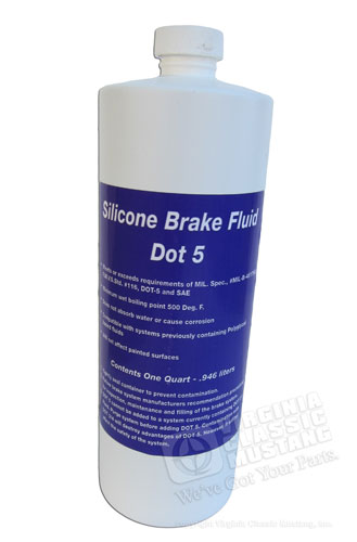 SILICONE DOT 5 BRAKE FLUID-QUART
