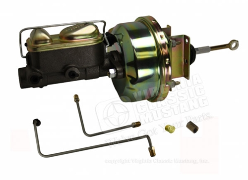 65-66 POWER DRUM BRAKE CONVERSION KIT WITH BOOSTER AND DUAL RESERVOIR MASTER CYLINDER  **AUTOMATIC TRANSMISSION ONLY**
