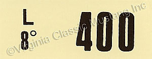 67 GT-500 ENGINE CODE DECAL   400