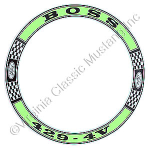 69-70 BOSS 429 AIR CLEANER DECAL