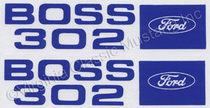 69-70 BOSS 302 VALVE COVER DECALS-PAIR