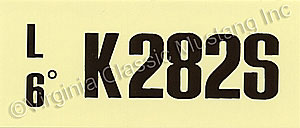 69 302-2V-AT-K282S ENGINE CODE DECAL