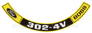 69 BOSS 302 AIR CLEANER DECAL