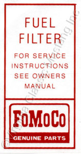 64 1/2-65 FUEL FILTER DECAL