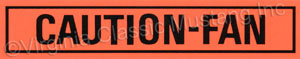 67-73 CAUTION FAN DECAL *CONCOURS*