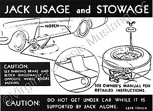 68 JACK INSTRUCTION WITH STYLED STEEL WHEELS DECAL