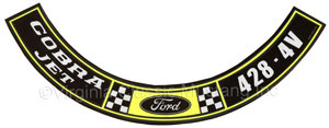 69-70 428-4V COBRA JET AIR CLEANER DECAL