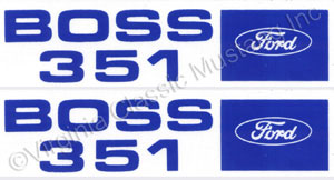 71 BOSS 351 VALVE COVER DECALS-PAIR