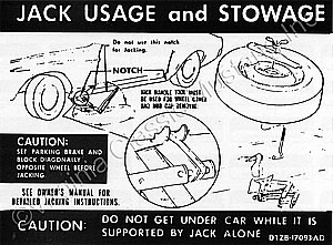 EARLY 71 WITHOUT LAY DOWN SEAT WITH REGULAR WHEELS JACK INSTRUCTION DECAL