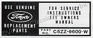 65-66 6 CYL AIR CLEANER INSTRUCTION DECAL