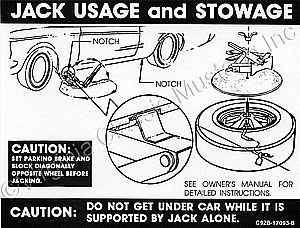 69 CONVERTIBLE JACK INSTRUCTION WITH STYLED STEEL WHEELS DECAL