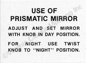 66 DAY/NITE INSIDE MIRROR DECAL
