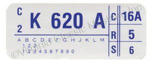 73 351C-4V RAM AIR ENGINE CODE DECAL K620A