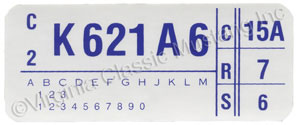 73 351C-4V ENGINE CODE DECAL  K621A6