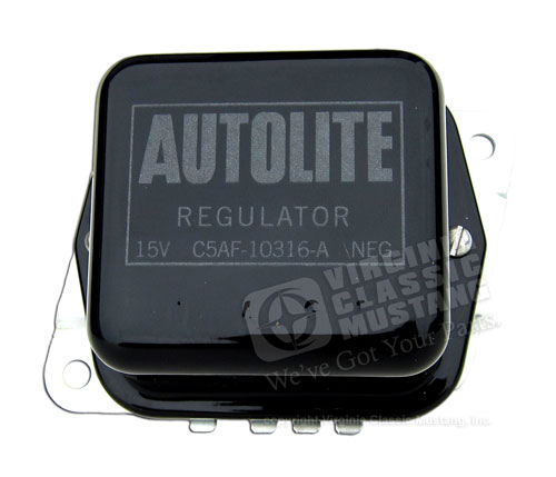 65-67 BLACK VOLTAGE REGULATOR     C5AF