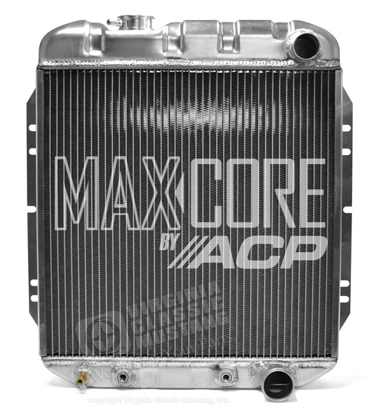 65-66 Mustang Aluminum Radiator V8 - Original Equipment Style - 3 Row Plus