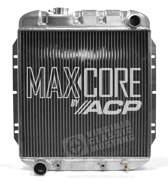 65-66 Mustang Aluminum Radiator V8 5.0 Conversion - Original Equipment Style - 3 Row Plus