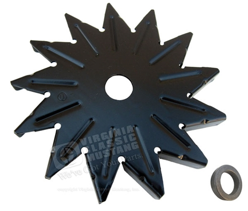 Alternator Fan with spacer - Black - Before May 65