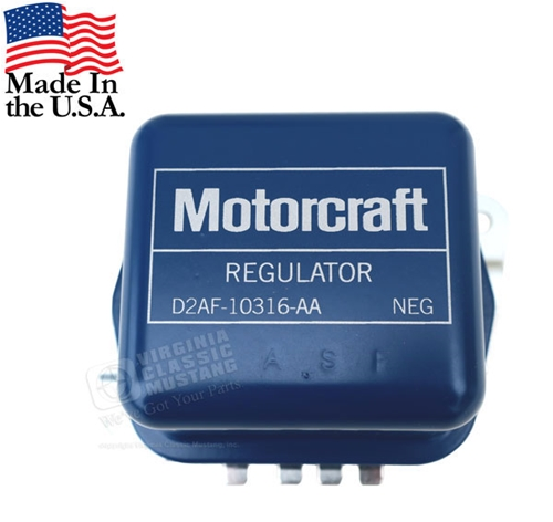 72 Motorcraft Stamped Voltage Regulator - Use without AC