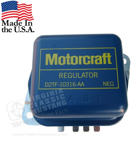 72 Motorcraft Stamped Voltage Regulator - Use with factory AC