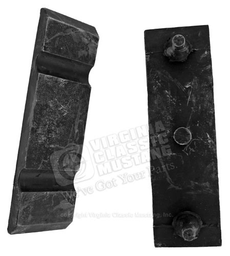67 LOWER RADIATOR BRACKET MOUNTING PADS ONLY -PAIR