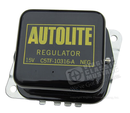 65-67 BLACK VOLTAGE REGULATOR WITH AIR CONDITIONING OR POWER TOP