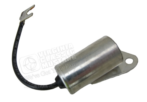 CONDENSOR FOR DISTRIBUTOR-ALL V8 65-67 6 CYL WITH FACTORY SMOG EQUIPMENT 68-73 ALL 6 CYL
