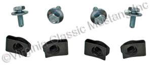 70-73 SCREWS AND U-NUTS FOR HOOD TWIST FASTENER CATCH (BOTH SIDES)
