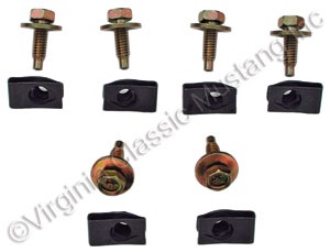 70-73 SCREWS AND U-NUTS FOR HOOD TWIST FASTENER TO RADIATOR SUPPORT BRACKETS (BOTH SIDES)