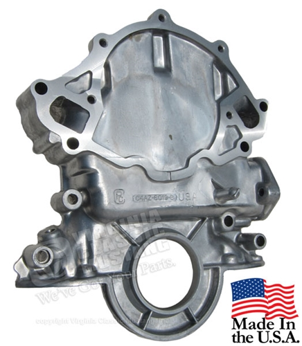 65-67 SMALL BLOCK V8 TIMING CHAIN COVER WITH BUILT IN TIMING POINTER