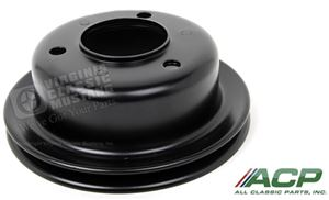 65-67 Mustang Crankshaft Pulley - Single Groove - Black - 289