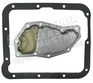 C4 AUTOMATIC TRANSMISSION PAN GASKET WITH FILTER FOR 66-69 (FILTER MAY FIT SOME 65 MODELS ALSO)