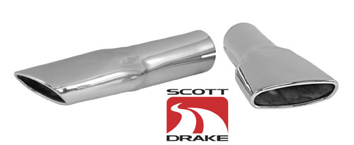 70 CHROME EXHAUST TIPS-PAIR
