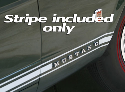 65-66 Mustang GT Stripe Kit - White