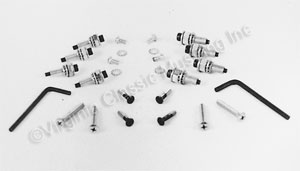 69-70 FASTBACK REAR WINDOW LOUVER SCREW KIT